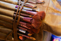 Professional make up brushes and cosmetic Stock Photography