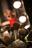 Professional make up brushes Stock Image