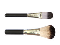 Professional make up brushes on white background Stock Images