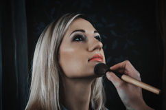Professional make-up Royalty Free Stock Photos