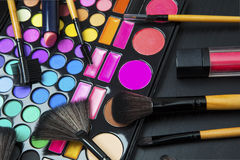 Professional make up with colorful eyeshadow Royalty Free Stock Photo