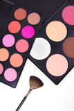 Professional make-up corrector with brush Royalty Free Stock Image