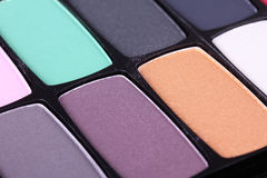 Professional make-up eyeshadows Royalty Free Stock Image