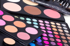 Professional make-up  eyeshadows palettes Stock Images