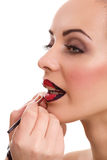 Professional make-up, lipgloss Royalty Free Stock Image
