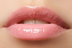 Professional make-up. Lipgloss. Lipstick Royalty Free Stock Photography
