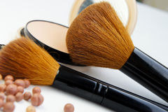 Professional make-up palette and brushes Royalty Free Stock Photo