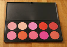 Professional make up pallette of cheek blusher Royalty Free Stock Photography