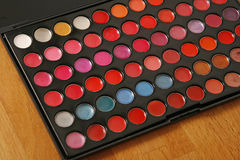 Professional make up pallette of lip glosses Royalty Free Stock Photography