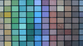 Professional make-up pallette of shadows Stock Photos