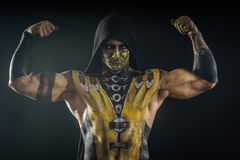Professional make-up scorpion. From mortal kombat Royalty Free Stock Images