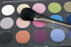 Professional make-up set. Black background Stock Images