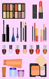 Professional make up set Royalty Free Stock Photography