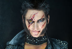 Professional make-up werewolf Wolverine Stock Image