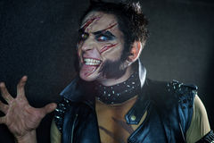 Professional make-up werewolf Wolverine Stock Images