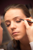 Professional makeup. Session for a beautiful young bride stock photo