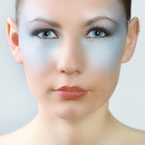 Professional Makeup Beauty Woman Portrait. Royalty Free Stock Photos