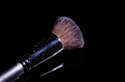 Professional makeup brush Stock Images