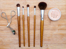 Professional makeup brush set Royalty Free Stock Photos