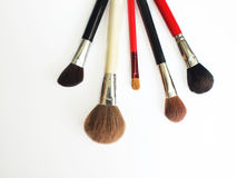 Professional makeup brushes. A set of five professional makeup brushes Stock Photography