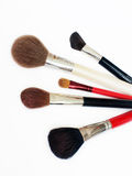 Professional makeup brushes. A set of five professional makeup brushes Royalty Free Stock Photo