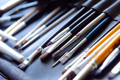 Professional makeup brushes Royalty Free Stock Photo