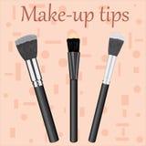 Professional Makeup Brushes kit. Stock Photography