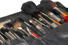 Professional makeup brushes Royalty Free Stock Image
