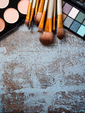 Professional makeup brushes and tools collection, make-up produc Stock Photo