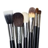 Professional makeup brushes Stock Images