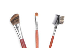 Professional makeup brushes Stock Image