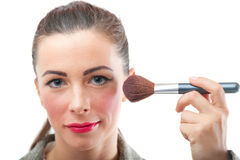 Professional makeup of business woman Stock Photography