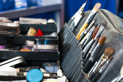Professional makeup case with brushes Stock Photography