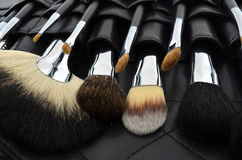 Professional makeup case with brushes Stock Image