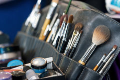 Free Professional Makeup Case Wirh Brushes Stock Photos - 18554853
