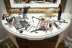 Professional makeup close up Stock Photos