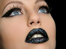Professional makeup close-up Royalty Free Stock Photo