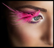 Professional Makeup. False Eyelashes. Royalty Free Stock Photos