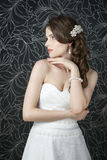 Professional makeup hairstyle bride Royalty Free Stock Images