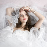 Professional makeup hairstyle bride Stock Photography