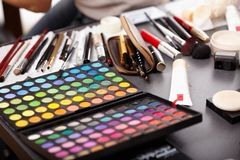 Professional makeup kit Stock Image