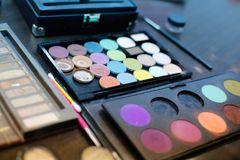 Professional makeup kit and tools Royalty Free Stock Images