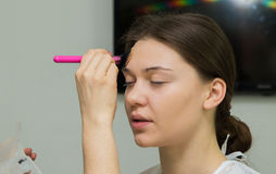 Professional makeup Stock Image