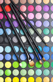 Professional Makeup Palette And Brushes Stock Photography