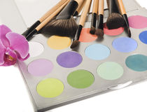 Professional makeup palette Royalty Free Stock Photos
