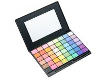 Professional makeup palette. Closeup studio macro shot Royalty Free Stock Photos
