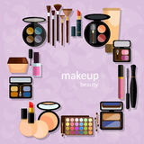 Professional makeup products decorative cosmetics Stock Photo