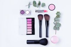 Professional makeup tools Royalty Free Stock Images