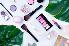 Professional makeup tools Royalty Free Stock Image