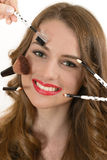Professional Makeup Stock Image